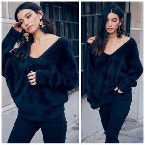 Black ultra soft fuzzy sweaters